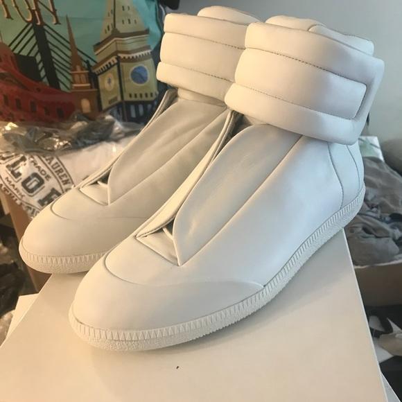b7a0a319158 NEW Maison Margiela Future Leather Hi Top Sneaker